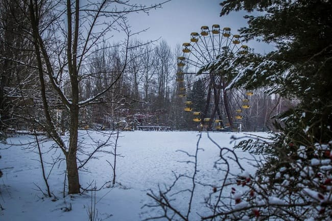 "Chernobyl in winter – a snow-white ""ghost"""