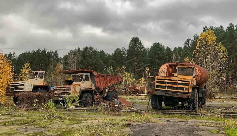 Чернобыль заброшенная техника